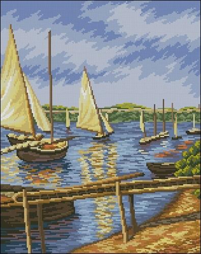 Парусные лодки (кар. Густава Кайботта)