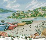 Морской пейзаж с лодками
