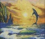 Дельфин в лучах заката