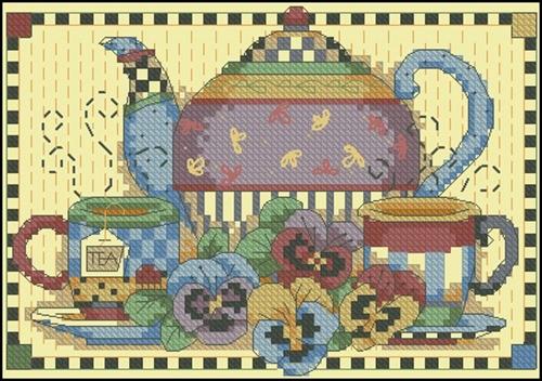 Teatime Pansies