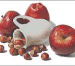 Кувшин. Яблоки и орехи.