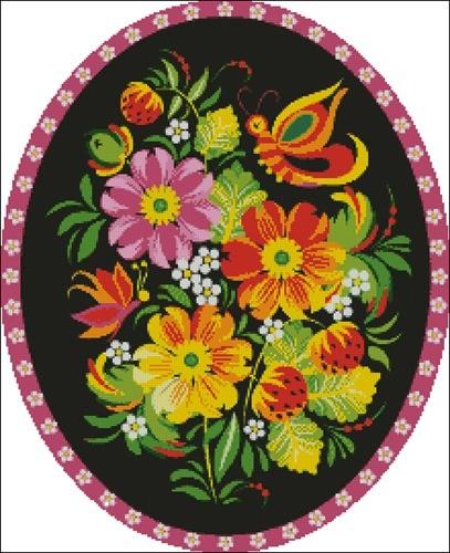 Бабочка (жостовская роспись)