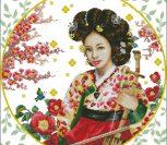 Японка с музыкальным инструментом 2