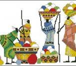 Этно вышивка африканские мотивы 4