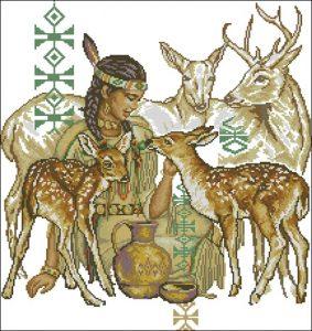 Индианка с животными