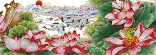 Лотос, китайская живопись