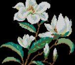 """""""Белые цветы"""" для подушки"""