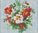 Подушка с разнообразными цветами
