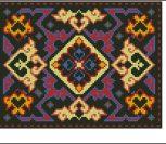 Башкирский ковёр с национальным орнаментом