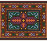 Гуцульская вышивка, узор для подушки