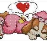 Подушка с собачкой