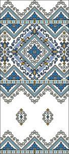 Красивый синий орнамент
