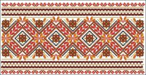 Гуцульский орнамент рушника