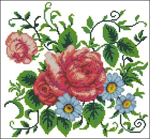 Троянди та ромашки