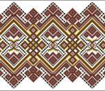 Геометрическая украинская вышивка
