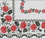 Узор с розами (красное и черное)