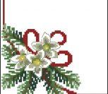Схема Рождественская салфетка
