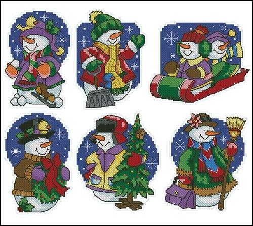 Новогодние снеговики