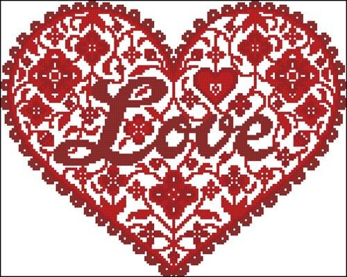 Красное сердце «Love»