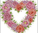 Красивое розово-красное сердечко