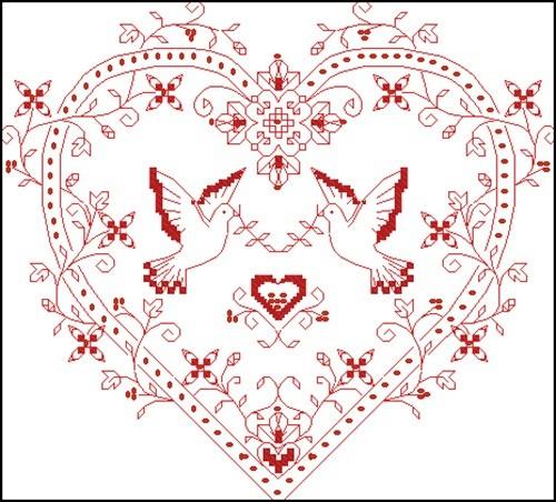 Сердечко свадебное