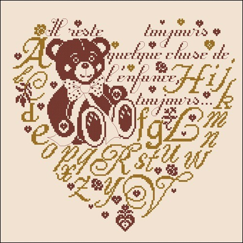 Сердечко с медвежонком
