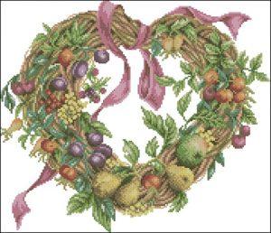 Сердечко с фруктами