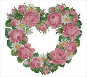Heart of Roses and Daisies