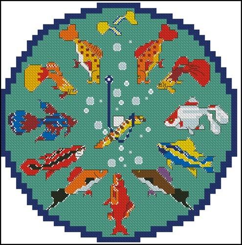 Часы с рыбками