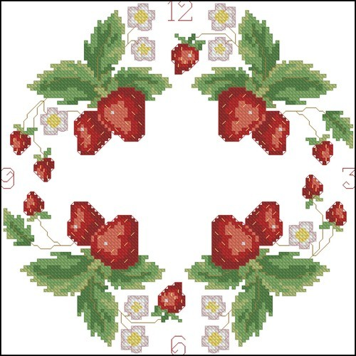 Strawberries - Clock chart