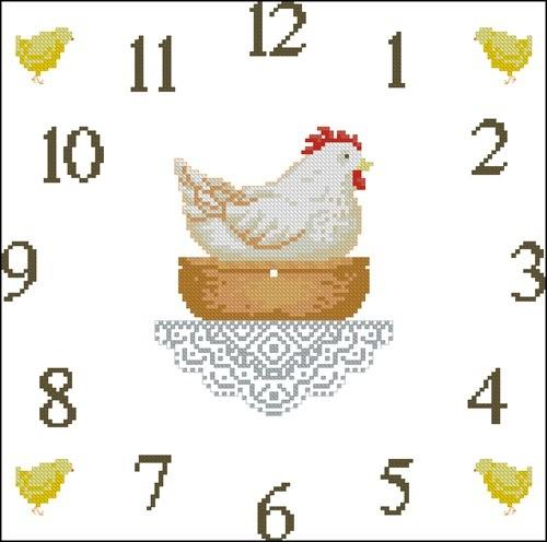 Часы с курицей