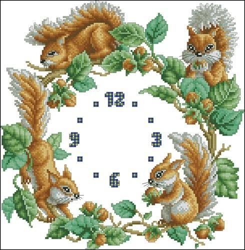 Reloj Ardillas