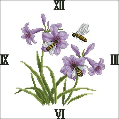 "Часы ""Пчелы и цветы"""