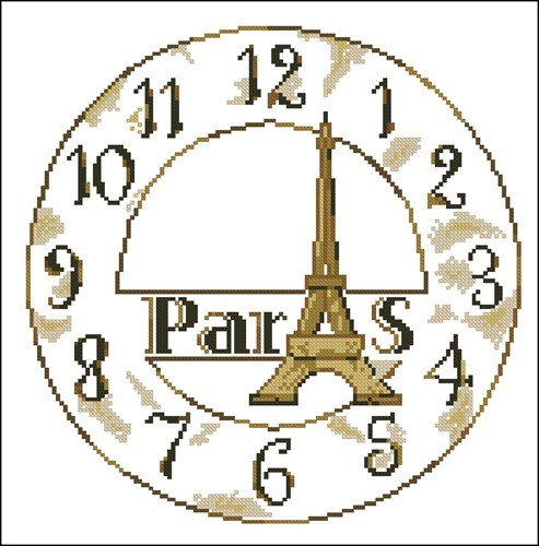 Циферблат часов Эйфелева башня