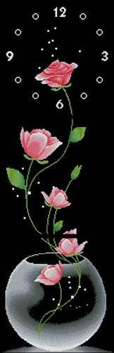 "Triptich ""Clock-Roses"""