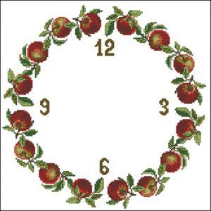 Часы с яблоками