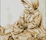 Девчушка с цыплятами