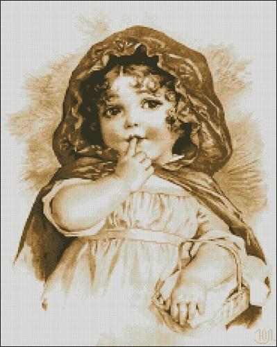 Девчушка с корзинкой