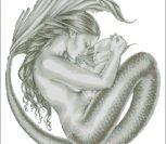 Русалка - мать и дитя