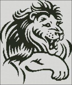 Черно-белый лев