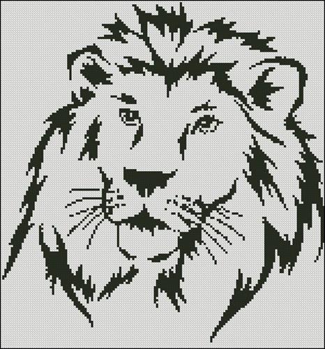 Силуэт льва