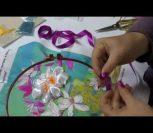 ВИДЕО: Вышивка лентами - мастер класс для начинающих. Цветы, магнолия