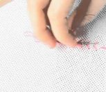ВИДЕО: Завершение диагонального ряда крестиков в вышивке