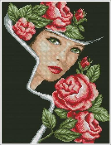 Dama s rozy
