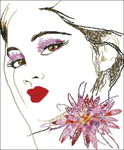 Дама и цветок