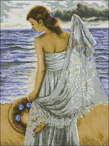 Девушка у моря