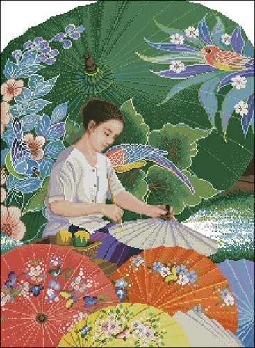 Thai Parasol Painting