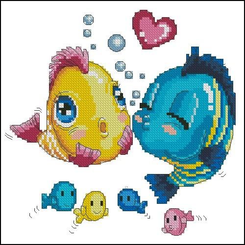 Рыбки поцелуй