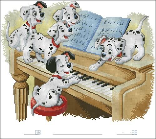 Далматинцы и пианино