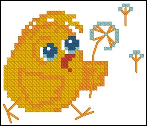 Цыпленок с одуванчиком